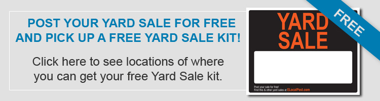 Pick up your free yard sale kit