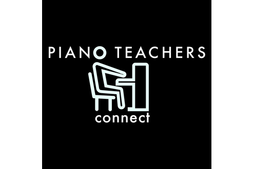 Piano teachers connect logo black