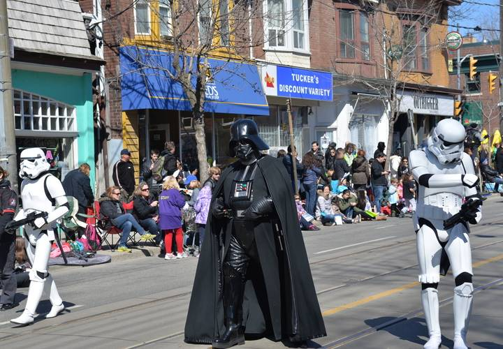 Even Darth Vader joined in on the action.