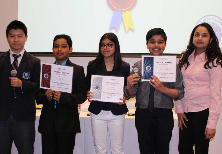 Grades 5-8 Inspirational Speech Contest Winners and Chairs