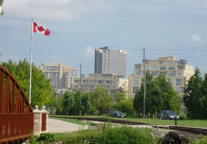 The kitchener skyline