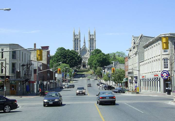 Basilica of Our Lady viewed from Macdonell Street