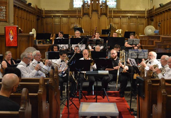 "Brass Section performing ""Shenandoah"" arranged by Leen Tuk"