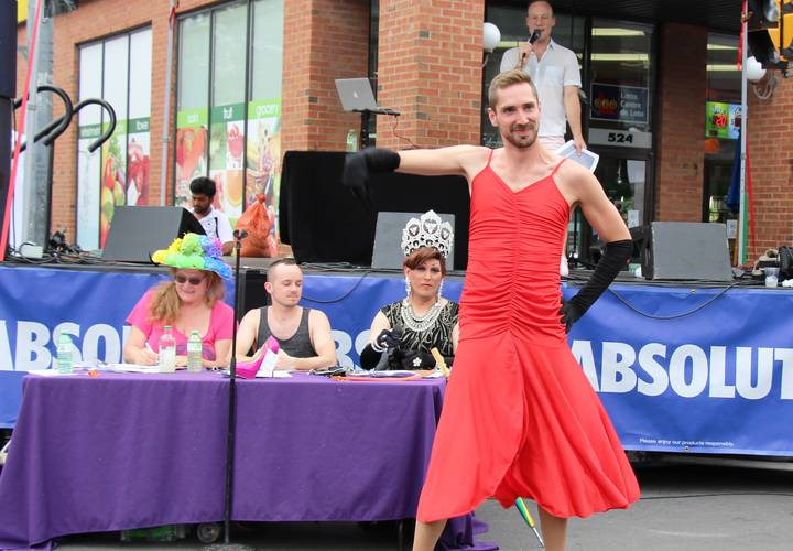 David Morris second place winner in the High Heel Strut competition.