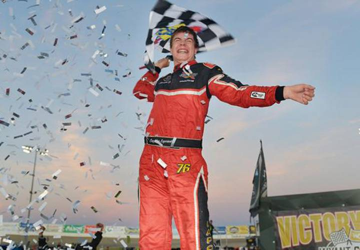 Youngest driver ever to win in the history of NASCAR Pinty's Series