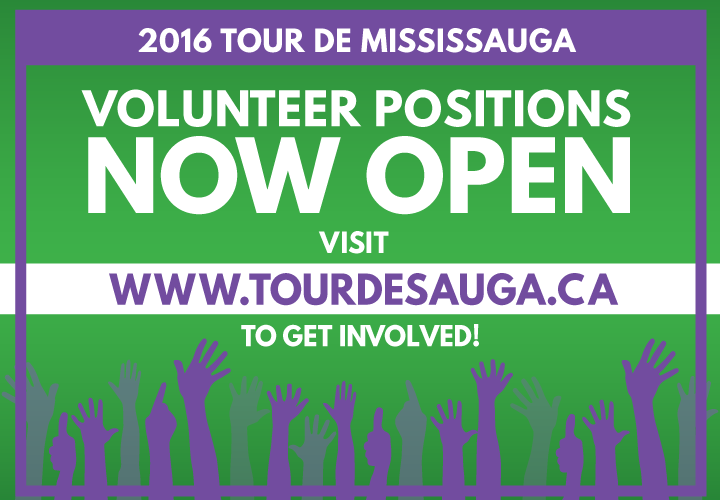Volunteer Opportunities now Available at www.tourdemississauga.ca/volunteer