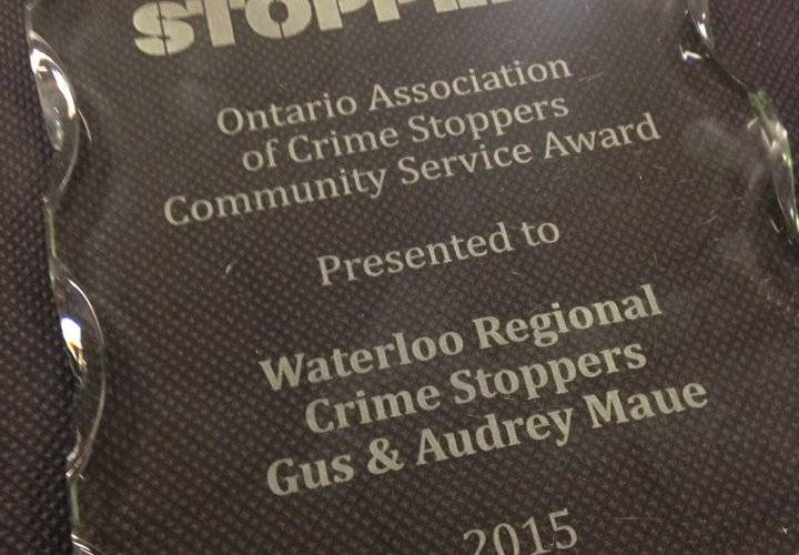 The Community Service Award was awarded to Gus and Audrey Maue