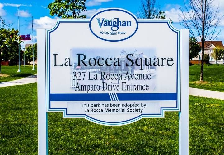 La Rocca Square-where all the fun took place!