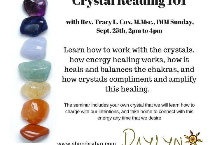 Crystal Reading and Healing Seminar
