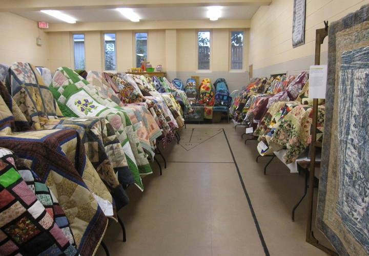 Some of the quilts from Sept. 10 Quilt sale this year