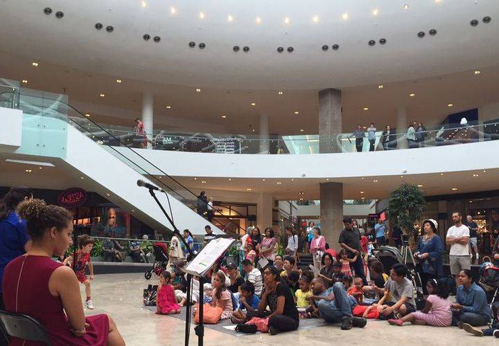 Audience enjoying show in Centre Court