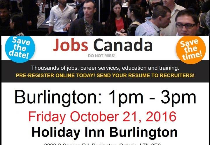 Burlington job fair flyer
