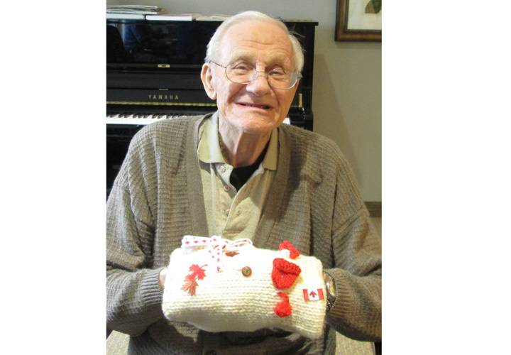 Don was thrilled to receive his Canada inspried sensory muff