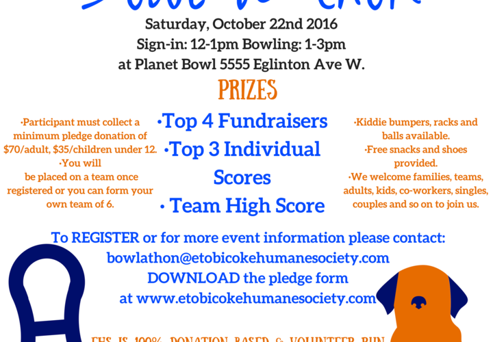 Bowl a thon 2016 flyer