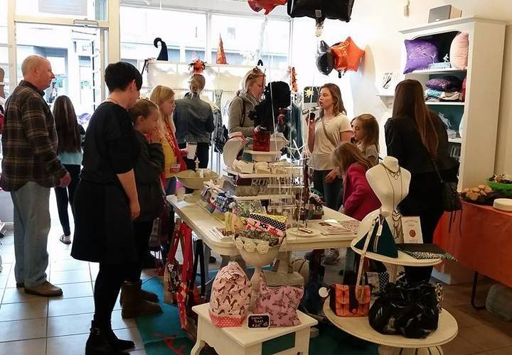 Opening also of Girls Are retail store-handmade accessories & gifts