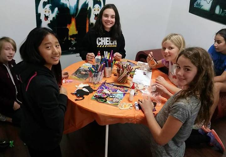 Children enjoyed making Halloween crafts