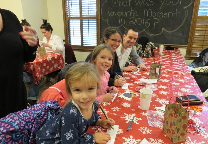 Family keepsake craft with Bradbury Estate Realty and Henry's