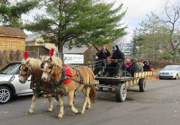 Horse drawn wagon rides courtesy of Heritage Burlington