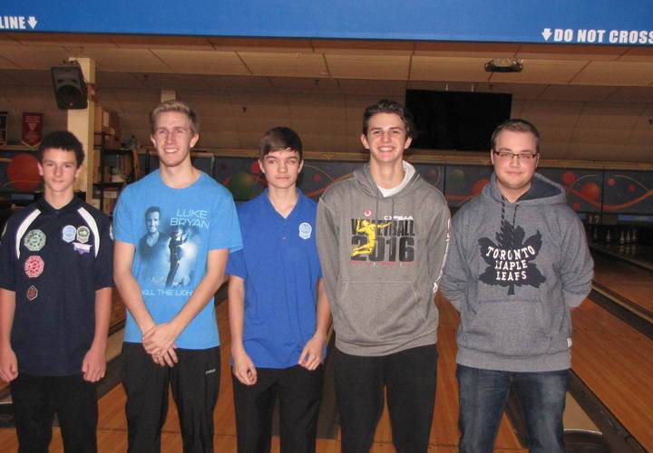 Men's team Lucas, Kile, Mathew, Josh and Matthew