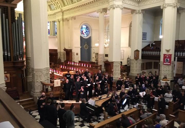 Melos Choir and Period Instruments performing in St George's Cathedral, Kingston
