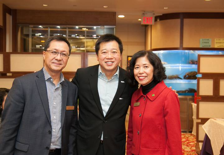 Annie Ho,  Joseph Wong and Richmond Hill Councillor Castro Liu (middle).