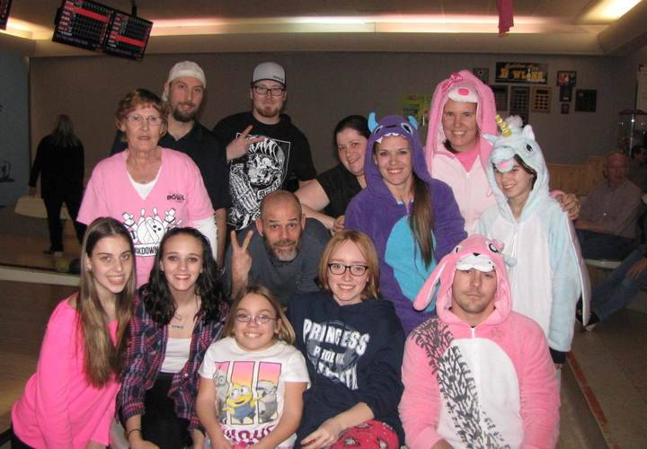 Here is a family and close friends to help show you bowling can be fun