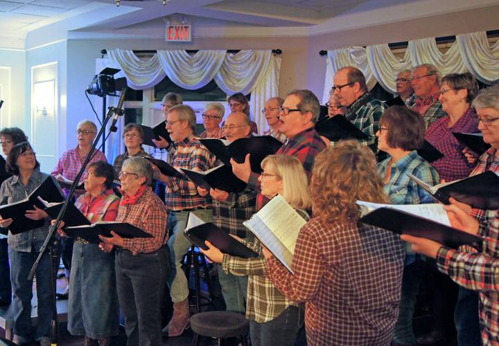 Ingersoll Choral Society singing their hearts out