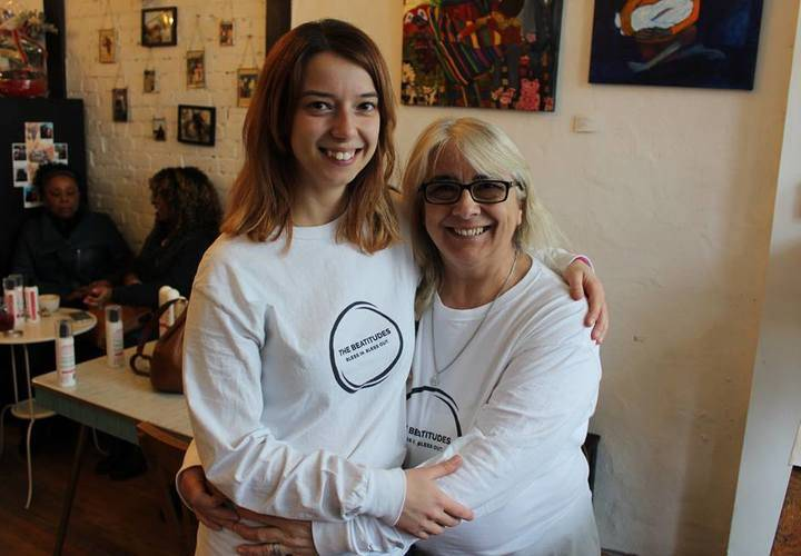 Founder of The Beatitudes Movement, Cari Flammia with co-founder,  Lucia Flammia