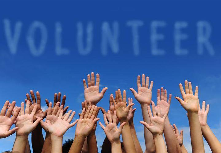 Bigstock volunteer group raising hands  19543958