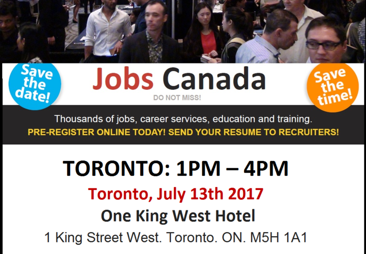 Toronto  job fair   july 13  2017