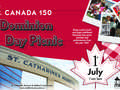 Canada day picnic digital signage