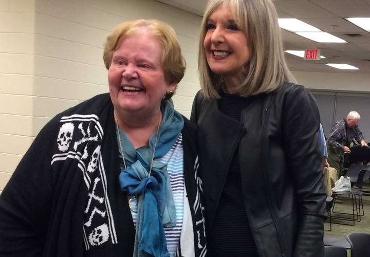 Long-time SinC-Toronto member Jane Burfield and Hank Phillippi Ryan