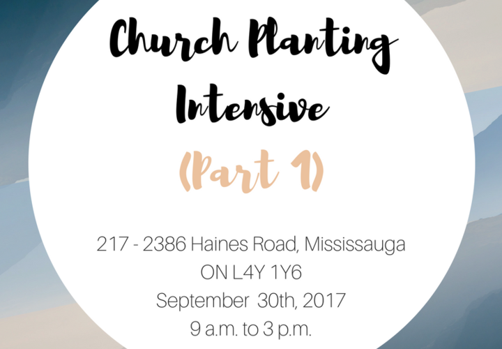 Church planting intensive  part 1