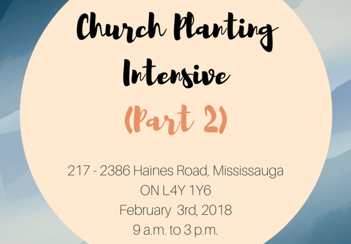 Church planting intensive  part 2