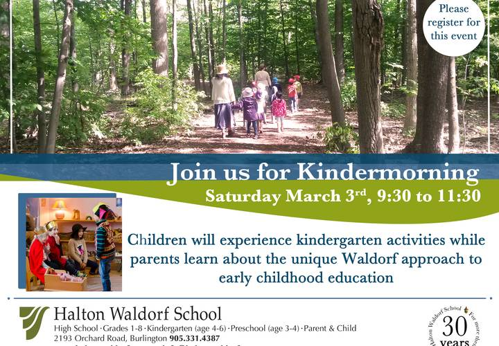 Kindergarten open house mar 18