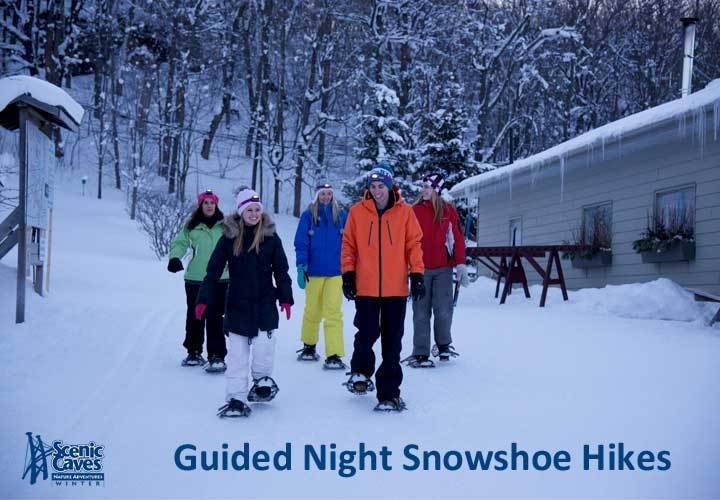 Guided night snowshoe hikes