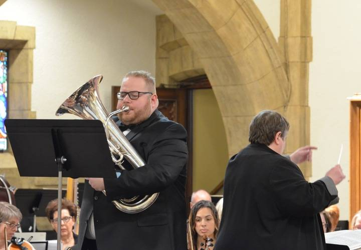 Steve Burditt, Euphonium with the Dundas Valley Orchestra