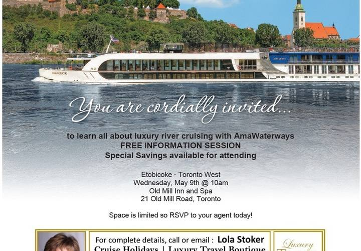 Amawaterways info session etobicoke lola