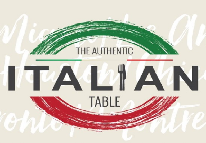 The authentic italian table logo paint version
