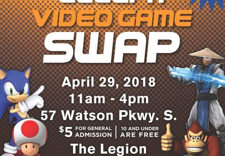 Guelph video game swap event flyer