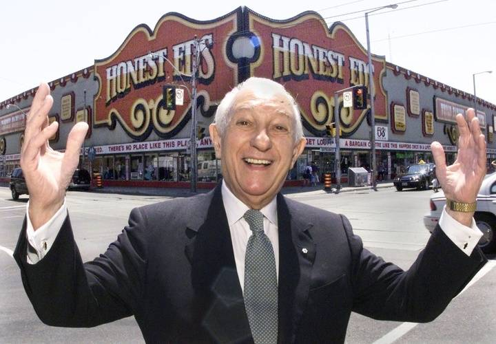 Ed mirvish in front of honest eds