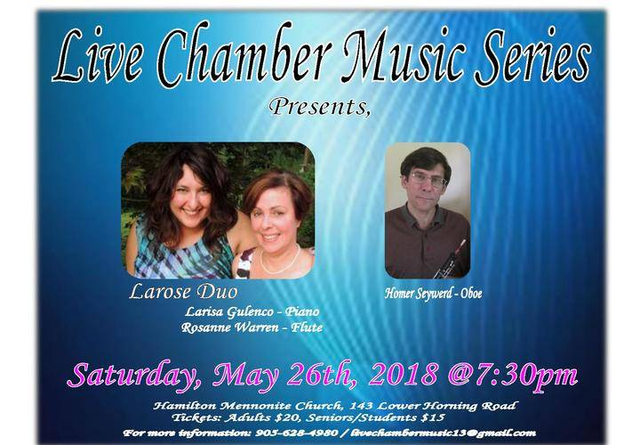 Live chamber music series  may 26th  2018