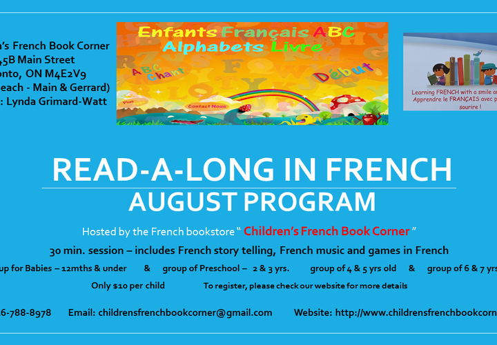 Read a long in french 2018 summer program poster