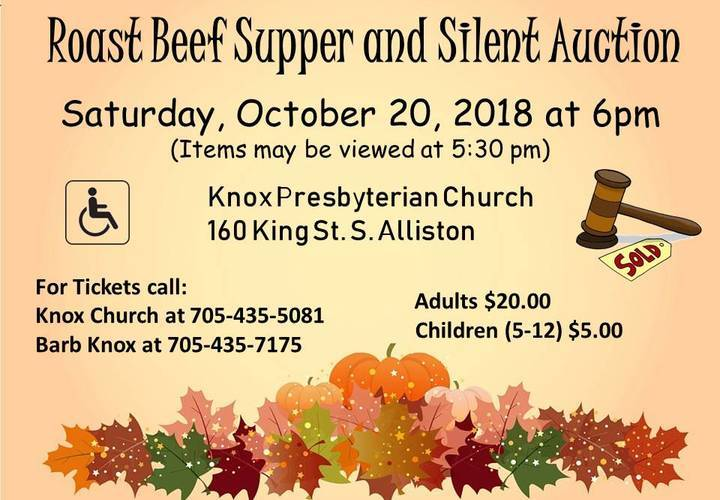 Rost beef supper   silent auction 2018