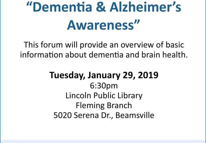 What is dementia jan 29 2019
