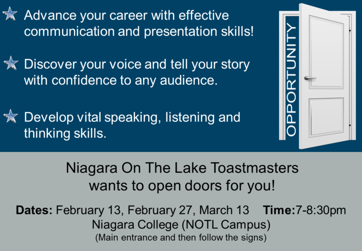 Notl open house flyer february 2019