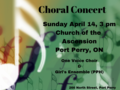 Choral concert   april 14th