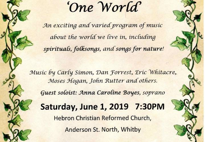 One world june 2019 poster