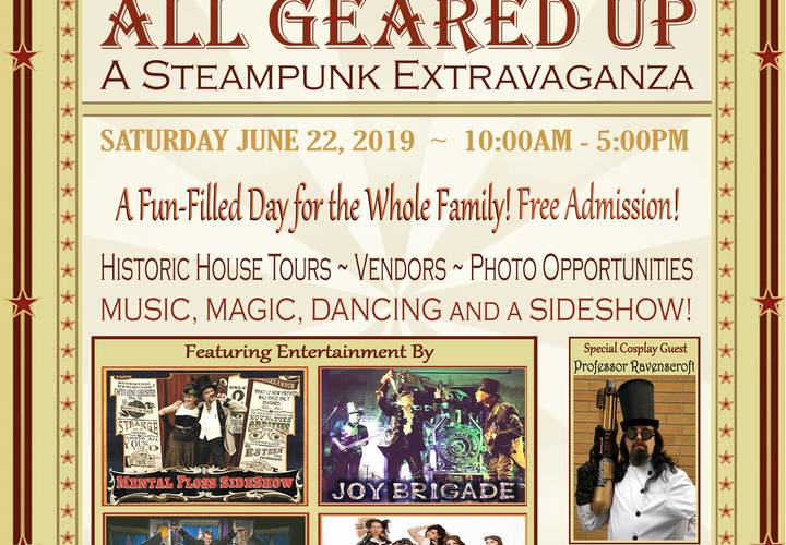 All geared up steampunk festival poster