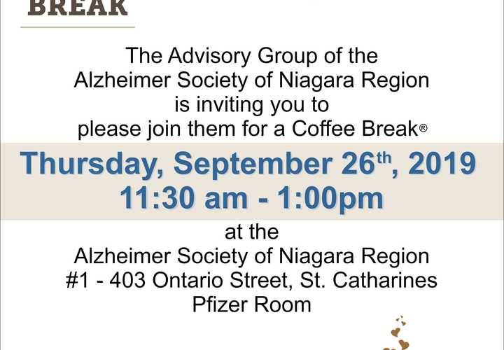 Advisory group coffee break invitation